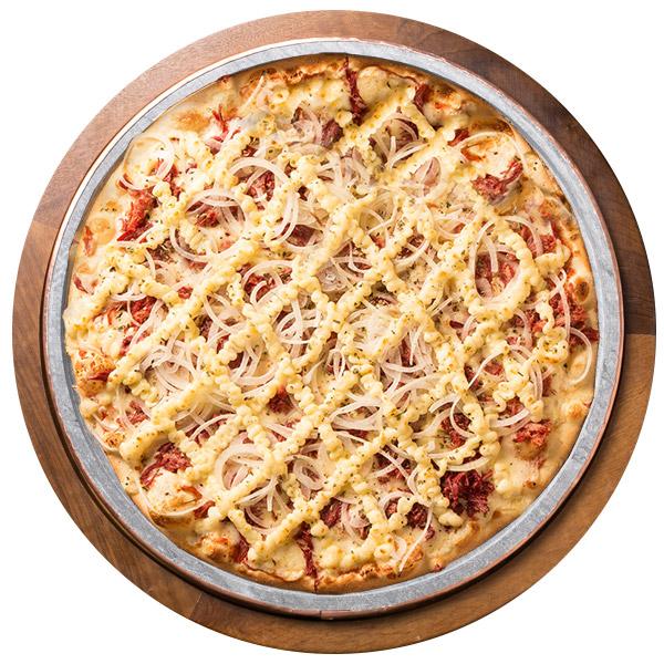 Pizza de CARNE SECA SEM GLÚTEN
