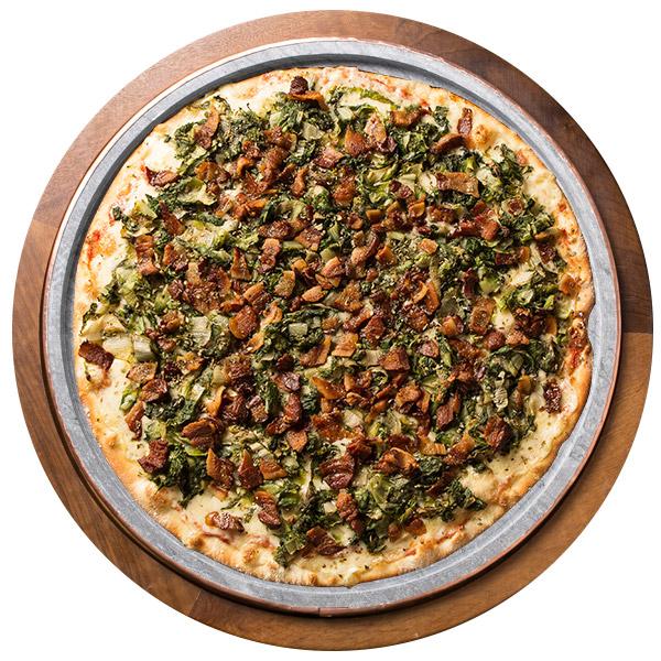 Pizza de ESCAROLA COM BACON SEM GLÚTEN