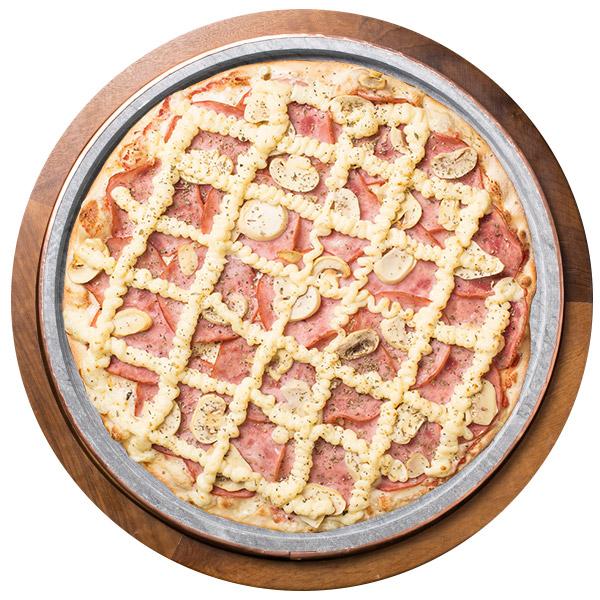 Pizza de LOMBO COM CHAMPIGNON SEM GLÚTEN