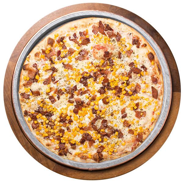 Pizza de MILHO E BACON SEM GLÚTEN